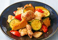 鶏肉と夏野菜のスタミナ炒め